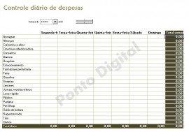 Planilha Excel Info - Controle Diário De Despesas