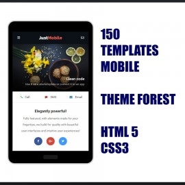 150 Templates Mobile Html 5 Theme Forest